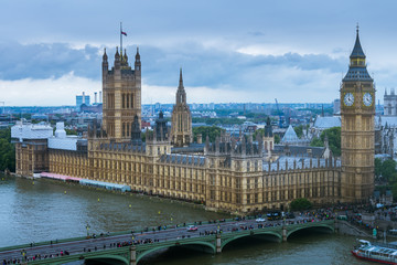 Palace of Westminster from top of London Eye