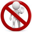Leinwanddruck Bild - stop halt verboten