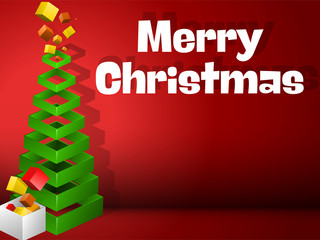 Christmas Tree Geometric Pyramid with Gifts