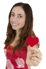 Woman showing heart