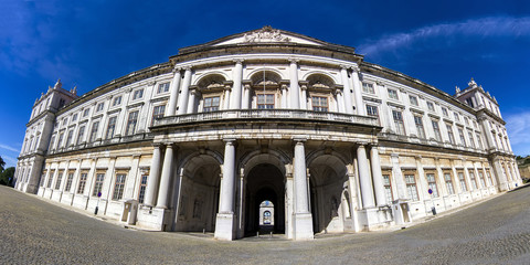 Panoramic view of the beautiful Ajuda palace