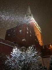 Кремлевская башня в снегу