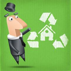 Polygone - Maison matériaux recyclés