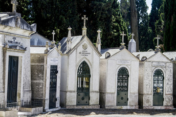 portuguese cemetery Prazeres in Lisbon, Portugal.