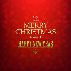 Red Christmas Bokeh Card