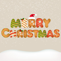 Snow With Christmas Text