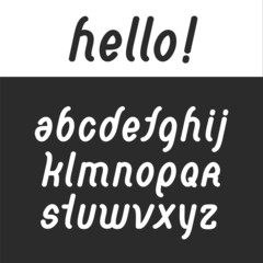 rounded font abc alphabet set