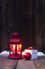 Christmas lantern and decorations