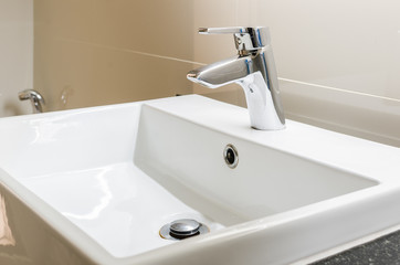 washbasin and faucet