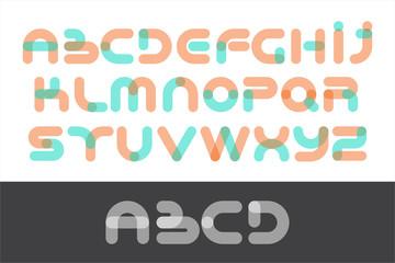 font alphabet set rounded