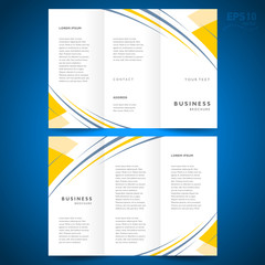 brochure design template abstract stripes