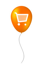 balloon illustration with a shopping cart