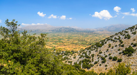 Landscape of Crete island view on Lassithi Plateau