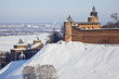 Nizhny Novgorod fortress at winter