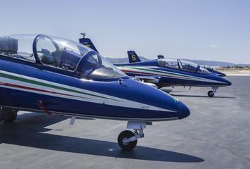 Italy, Sardinia, Olbia International Airport, acrobatic jets