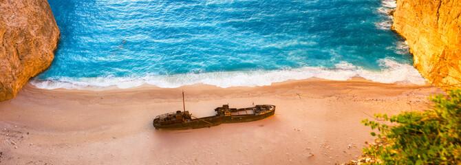 landscape ofshipwreck beach