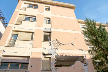 City of L'Aquila, Earthquake effects, Abruzzo Italy