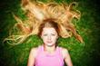 hair on a lawn