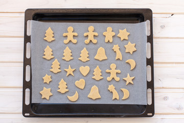 semifinished ginger cookies