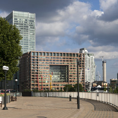 View on business district Canary Wharf