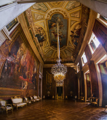 beautiful rooms of Ajuda palace located in Lisbon