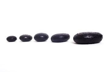 sıralı siyah taş