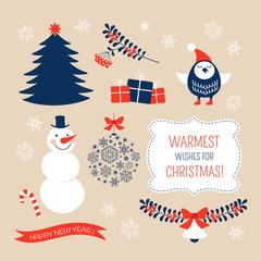 Christmas graphic design elements