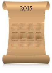 2015 calendar parchment