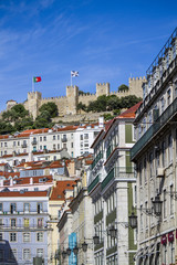 Moorish castle of Sao Jorge located in Lisbon