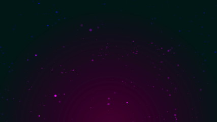 Abstract background with purple blinking particles