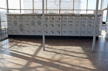Automatic luggage storage at the train station in Kerch