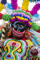 Parade of costumes and traditional masks of Iberia