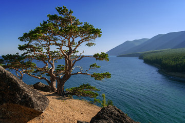 View of Baikal from the cliff