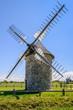 canvas print picture - Bretagne_Umgebung Goulien - Windmühle