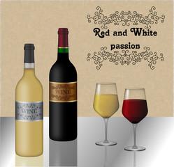 Vino rosso e bianco - Slogan