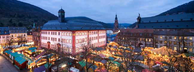 Universitätsplatz in Heidelberg im Winter