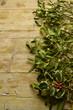 Leinwandbild Motiv Viscum album Mistletoe Muérdago blanco Vischio Holly