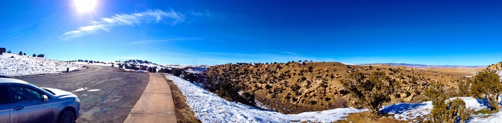 Large Panorama in the middle of the Utah desert