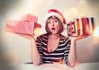 sassy santa-girl with gifts - christmastime 05