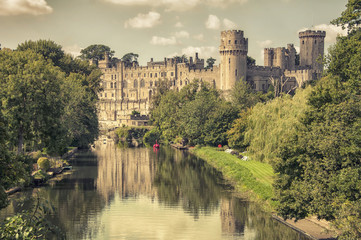 Medieval Warwick castle, major touristic attraction in UK