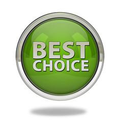 Best choice pointer icon on white background