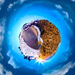 A circular panorama of the Utah Desert