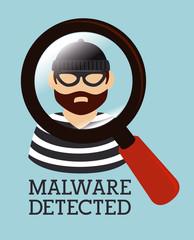 Security Design over blue background vector illustration