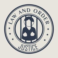 Law Design over beige background vector illustration