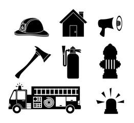Firefigther design over white background vector illustration