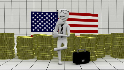 Business in America - finance concept