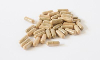 Herbal Drug . an alternative medicine in capsule.