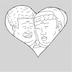 Smiling Couple in Heart