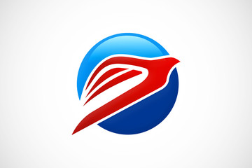 eagle abstract travel fly logo vector