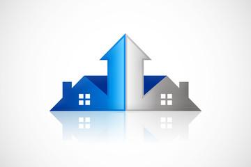 home arrow business realty logo vector